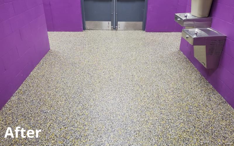 before concrete countertop treatment